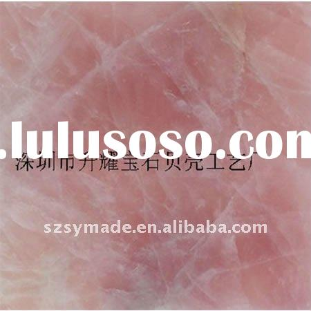 Natural gemstone pink crystal mosaic tile for building decoration, table top,counter