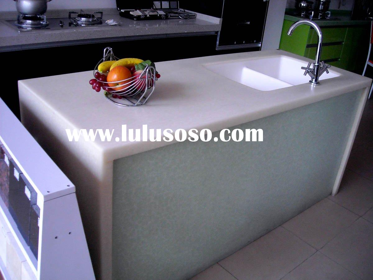 New design artificial marble kitchen &corian countertop