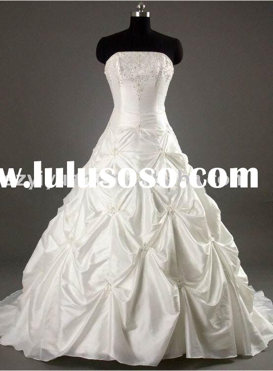 New style hot sale stock real sample wedding dress 2011