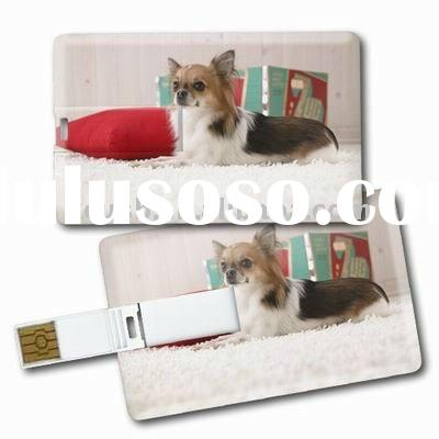 Plastic Credit Card USB Flash Memory, Gift Card Pendrive