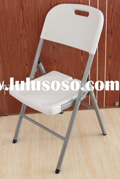 Plastic granite white outdoor camping folding chair