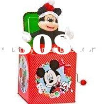 Pop out jack-in-the-box-Mickey mouse music box