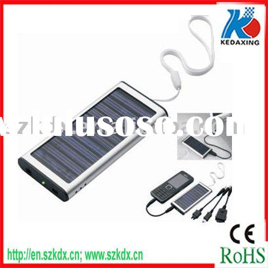 Portable Mono -Crystalline solar power panel charger for mobile phone with keyring