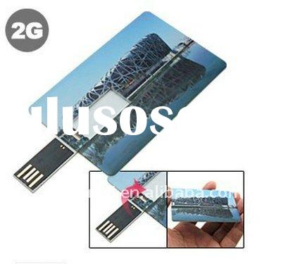 Promotional gift credit card usb memory 2GB