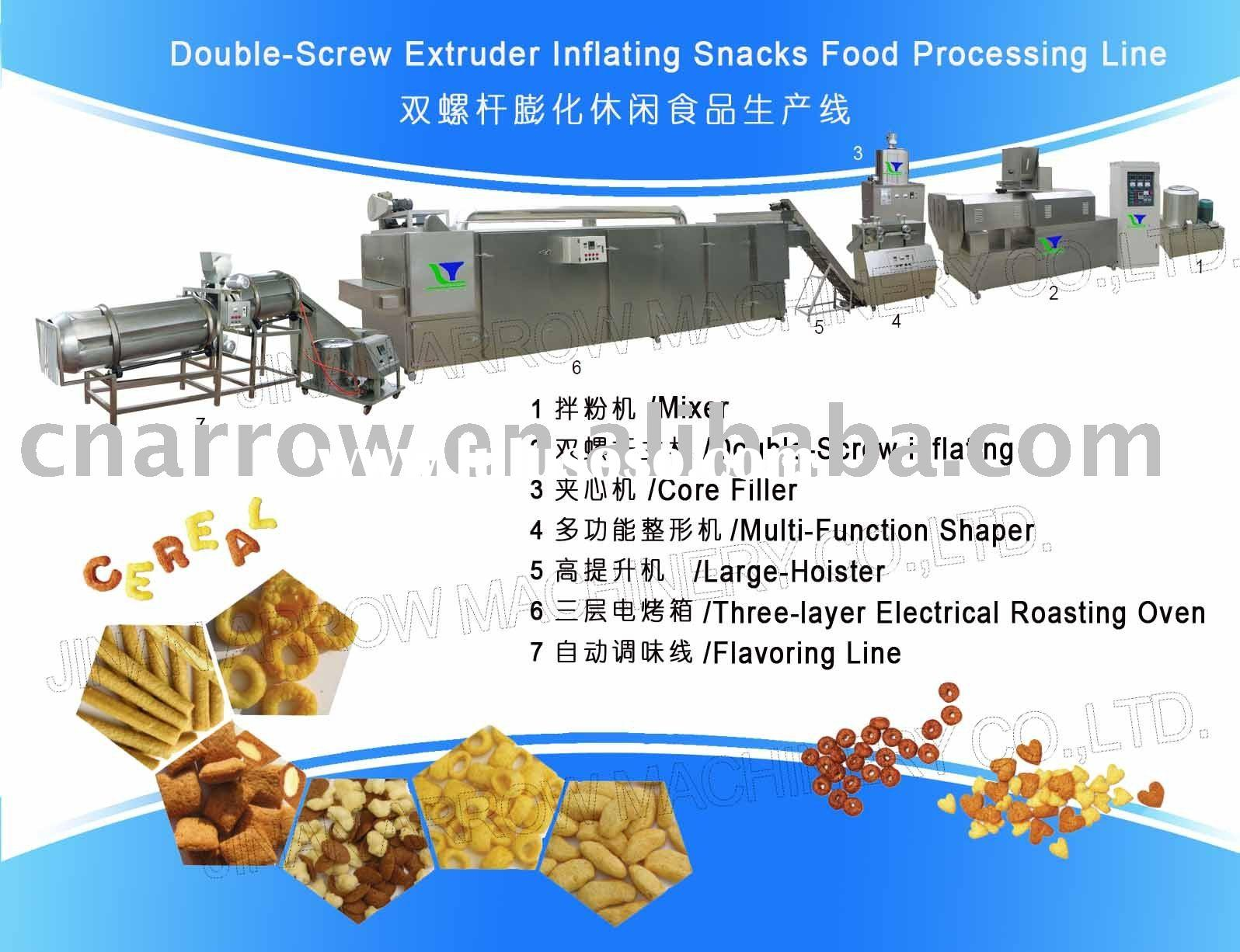 Puffing Snacks/Cheese Ball Snacks Food Processing Line