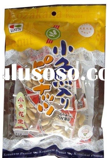 Roasted small fish and peanut snack
