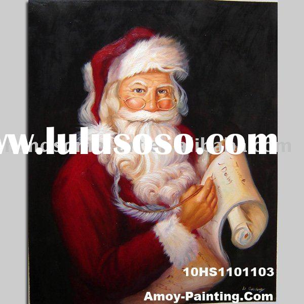 Santa Claus Oil Painting On Canvas