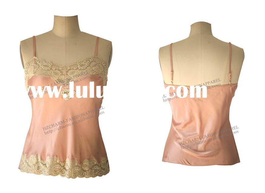 Silk Charmeuse Lingerie Tank ,camisoles, camisole tops, lingeries