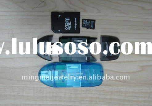 Smallest MicroSD TransFlash USB Card Reader with Cover