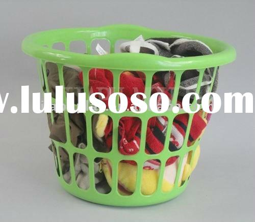 Solid Plastic Laundry Basket-0227