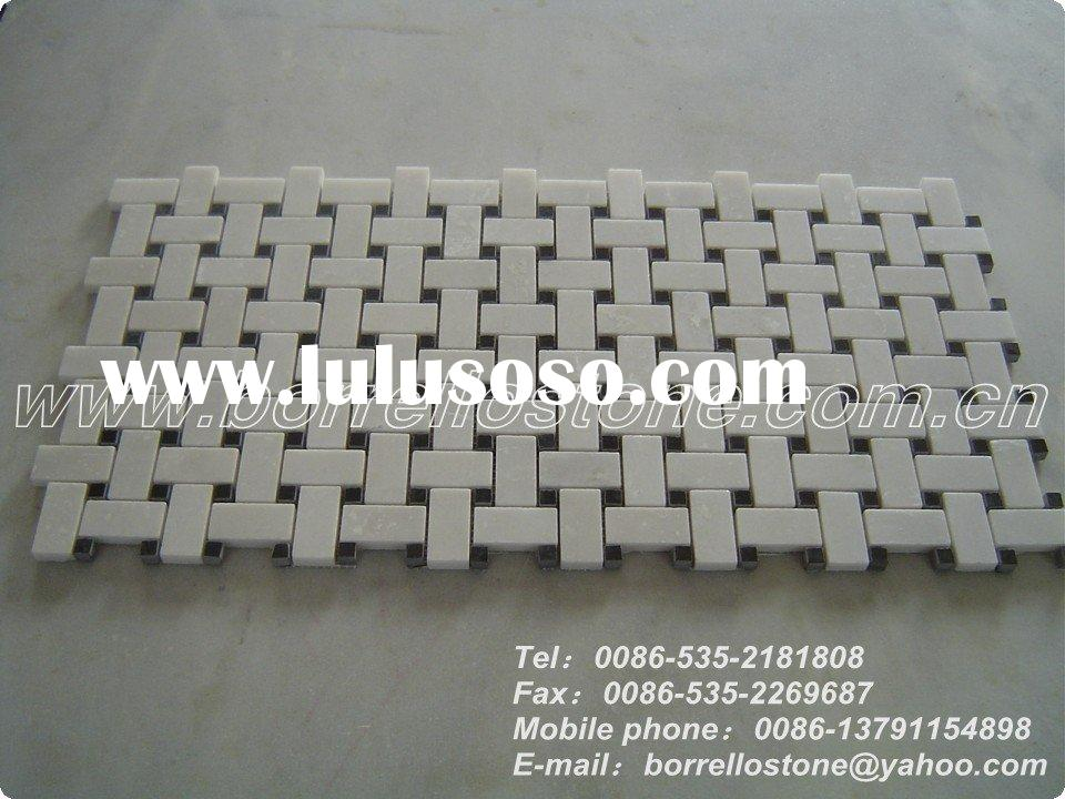 Square White Marble Mosaic Tile