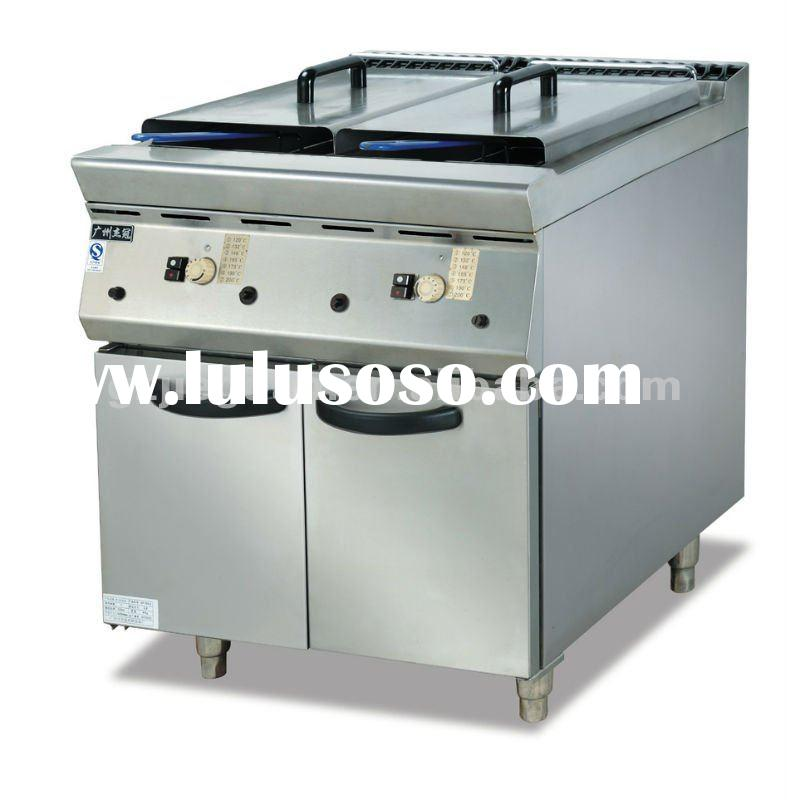 Stainless 2 tank Gas deep Fryer with cabinet (GF-985-2)