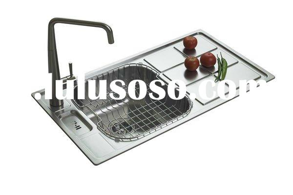 Stainless Steel Hand Washing Sink Single Bowl With Drainboard