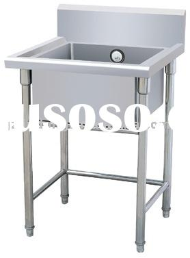 Stainless steel kitchen sink table(one bowl)