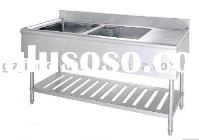 Stainless steel kitchen table & sink / hand wash basin