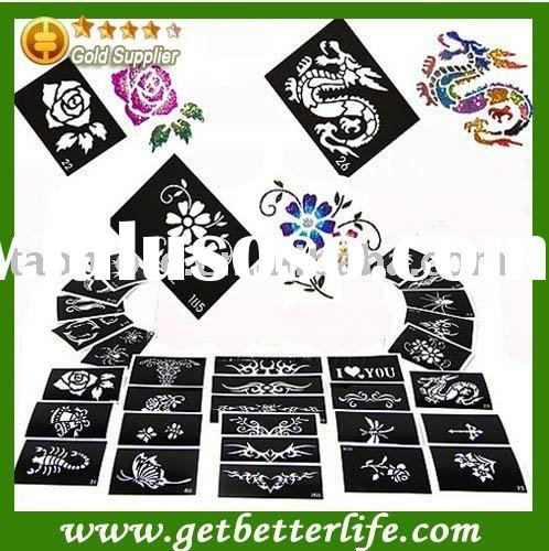 Tattoo stencil for Body art Painting, 50 sheets, Mixed Designs