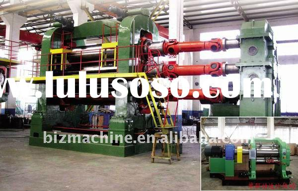 Three roller rubber and plastic calender machine
