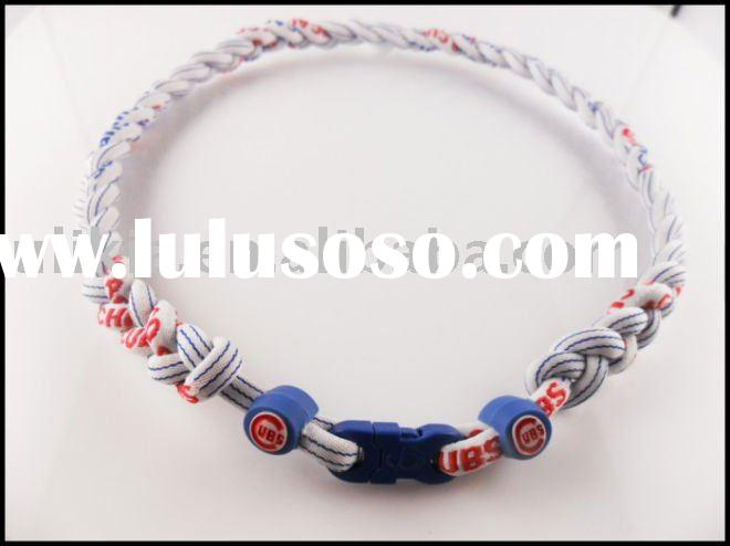 Tri-braided MLB Baseball Chicago Cubs Necklaces