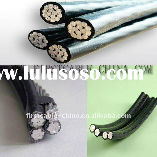 Twisted cable Aerial Bundled Conductor ( ABC Cable ) for aerial power transmission 11 kv 33 kv 110 k