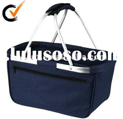 Two Handle Shopping Basket With Polyester
