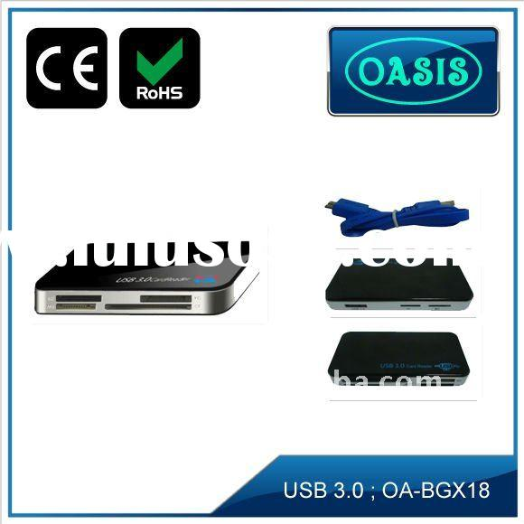 USB3.0 Card reader for SD, MS, M2, TF, CF, XD 6 slot