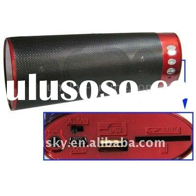 USB flash drive and SD/MMC card speaker,built in Rechargeable Li-ion Battery