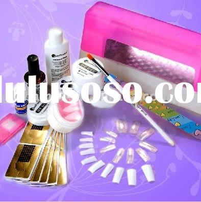 UV Gel Curing Set For Acrylic Nail Art Tips