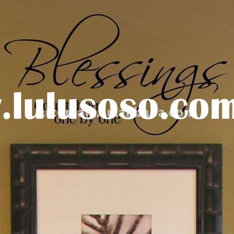 Vinyl Lettering Wall Sayings Home Decor Art Decal Sticker Quote Blessings Count Them One By One