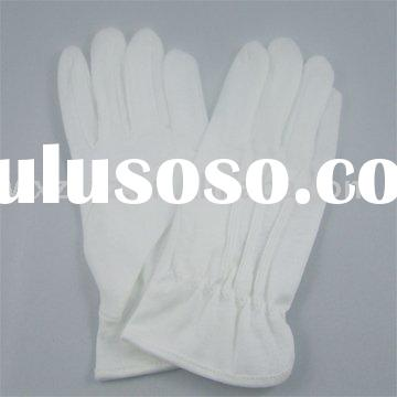 White cotton glove/white parade glove/waiter glove