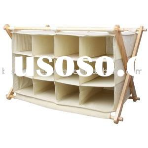 Wooden Canvas Shoe Rack /Organizer /Storage