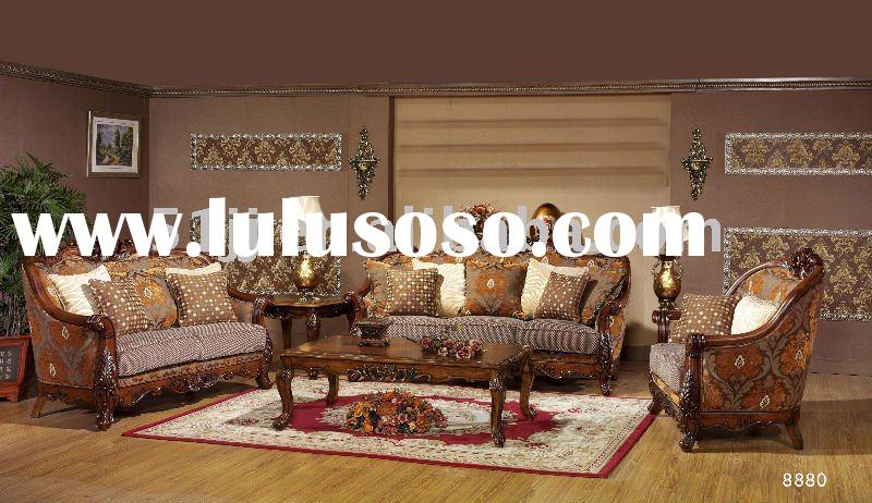 Wooden European Living Room Furniture Sofa sets MLG-8880A