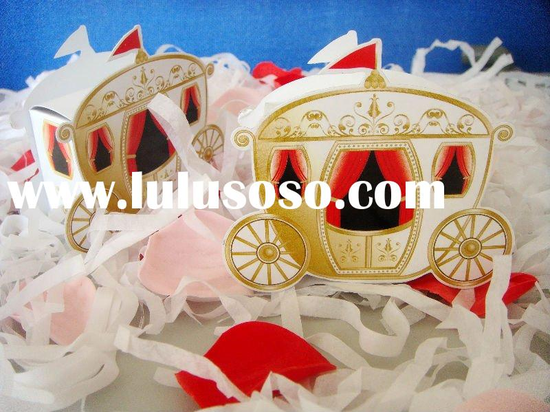 """Enchanted Carriage"" Wedding Candy Boxes(Favor box)"