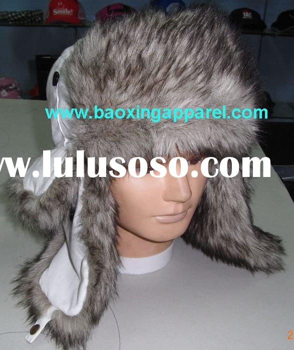 animal-friendly faux fur Ushanka fox fur winter hat