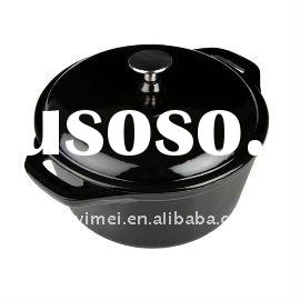 black ceramic cooking pot