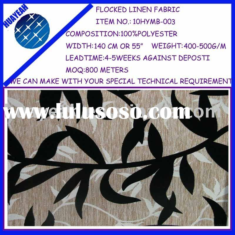 car upholstery fabric with flocking design