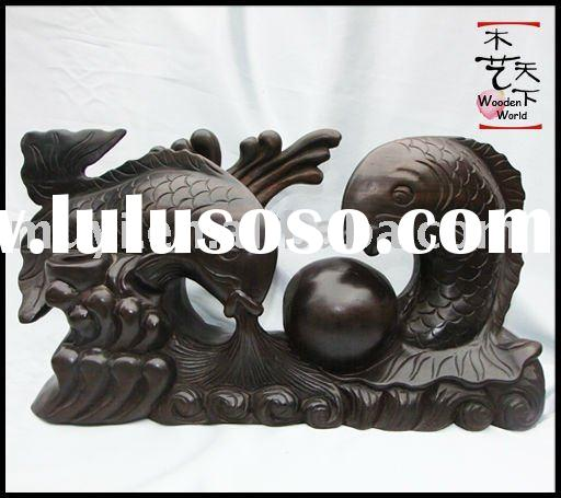 carp wood carving fish carving wood carving
