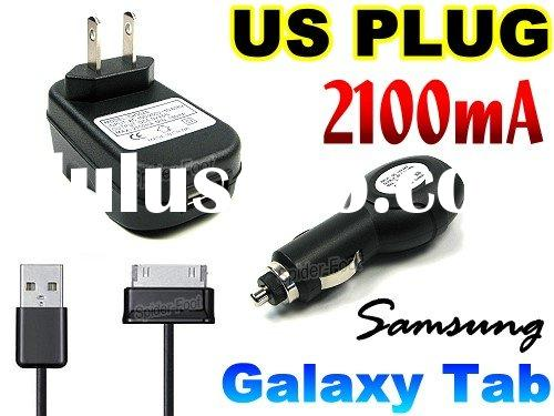charger power adapter +car charger for Samsung Galaxy Tab P1000