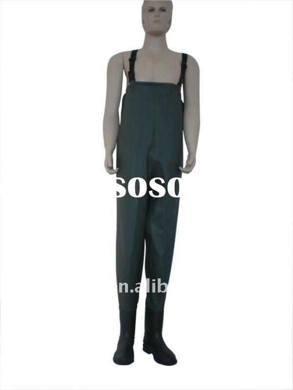 cheap PVC fishing wader being used widely in different working sites