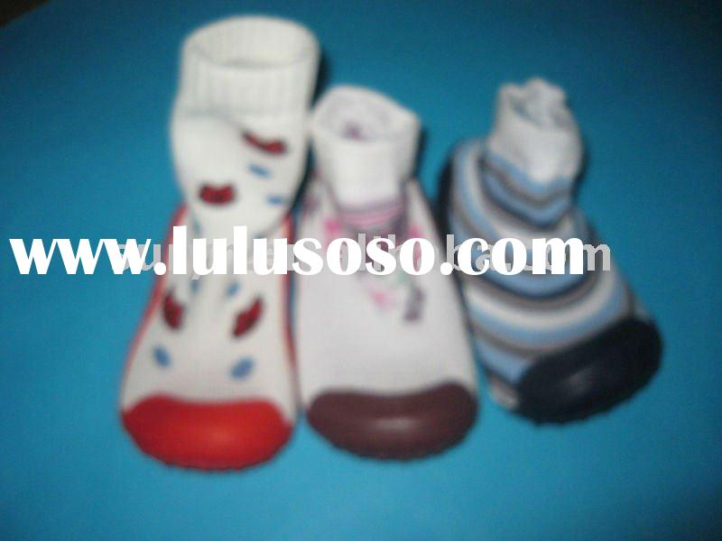 children slipper socks with rubber sole