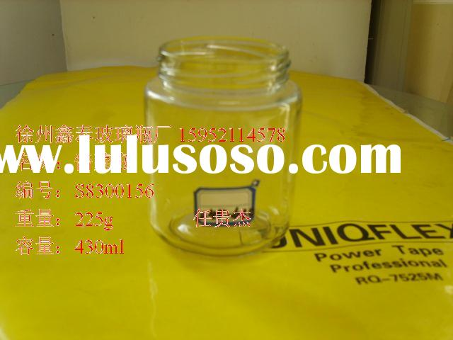 clear honey glass jar