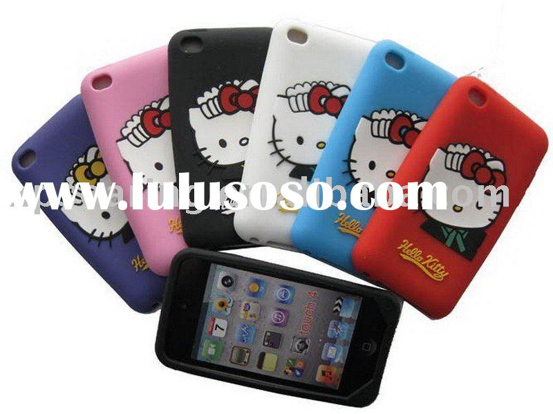 clever cat Silicone rubber case skin back cover for ipod touch 4