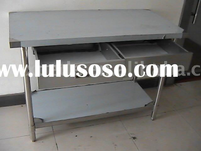 commercial stainless steel kitchen work table with drawer