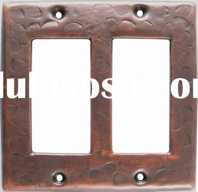 copper double rocker switch plate cover
