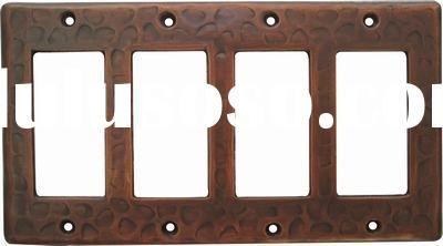 copper toggle switch plate cover