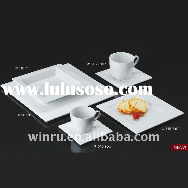 designer square porcelain dinnerware set
