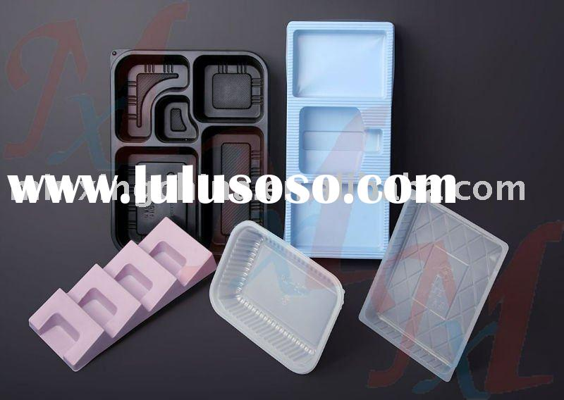 different shapes divided plastic food insert tray