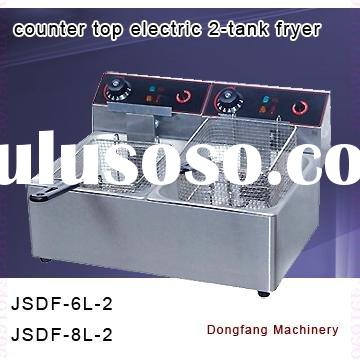 fish and chips fryers 2011 new counter top electric 2-tank fryer(2-basket)