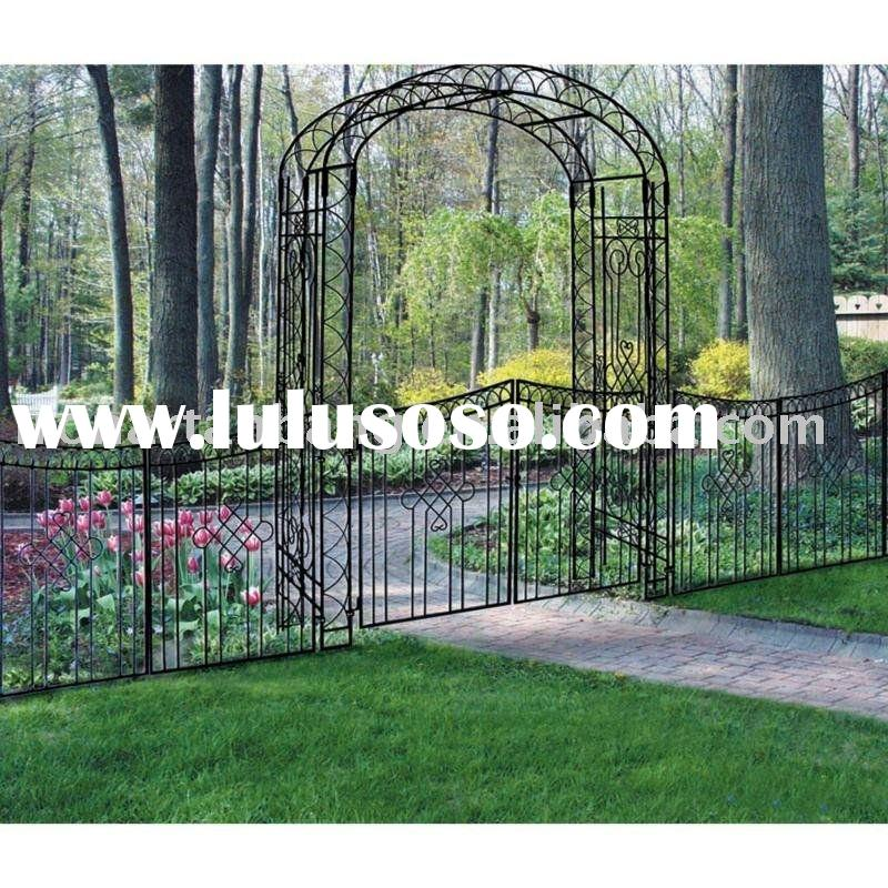 garden iron art gate,garden ornamental iron gate,garden gate or fence