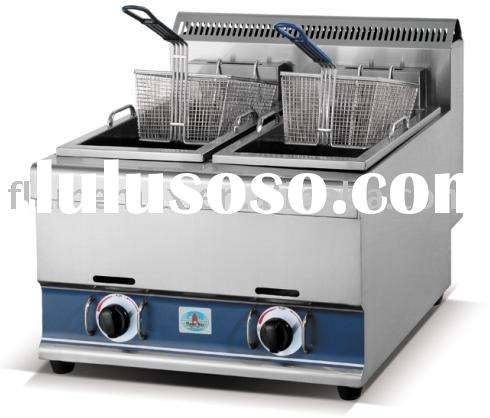 gas fryer (double tank deep fryer, fast food equipment)