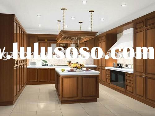 glaze solid maple wood kitchen cabinet with counter top